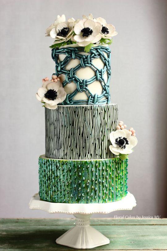 MACRAME VINTAGE WEDDING CAKE by Jessica MV on Cake Central