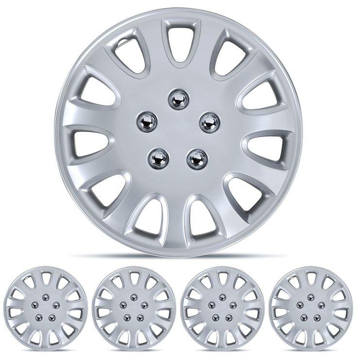 """Drive Accessories KT-842-14S/L, Toyota Corolla, 14"""" Silver Replica Wheel Cove..."""