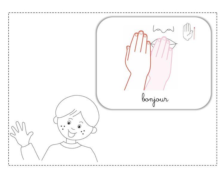 bonjour LSF illustration
