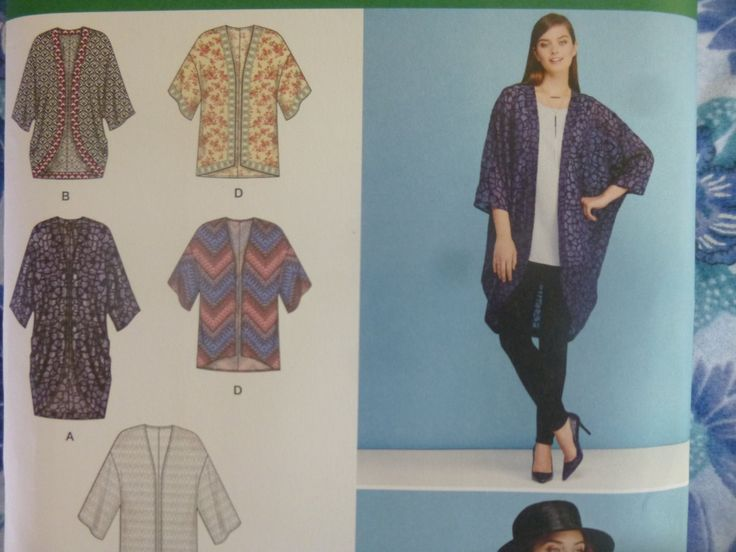 Simplicity 1108: Women's Kimono in 5 Variations by KikiGraceCollections on Etsy