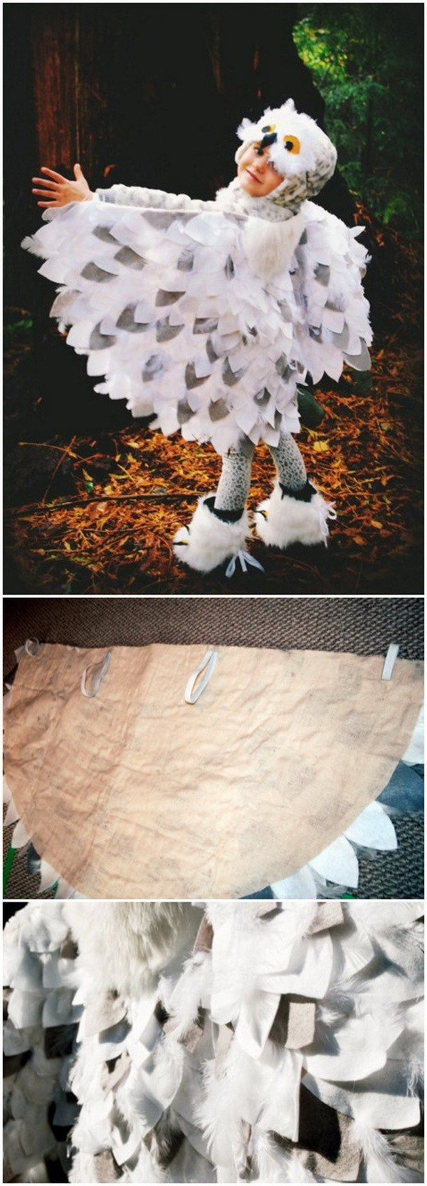 "No Sew ""Snowy Owl"" Costume.                                                                                                                                                                                 More"