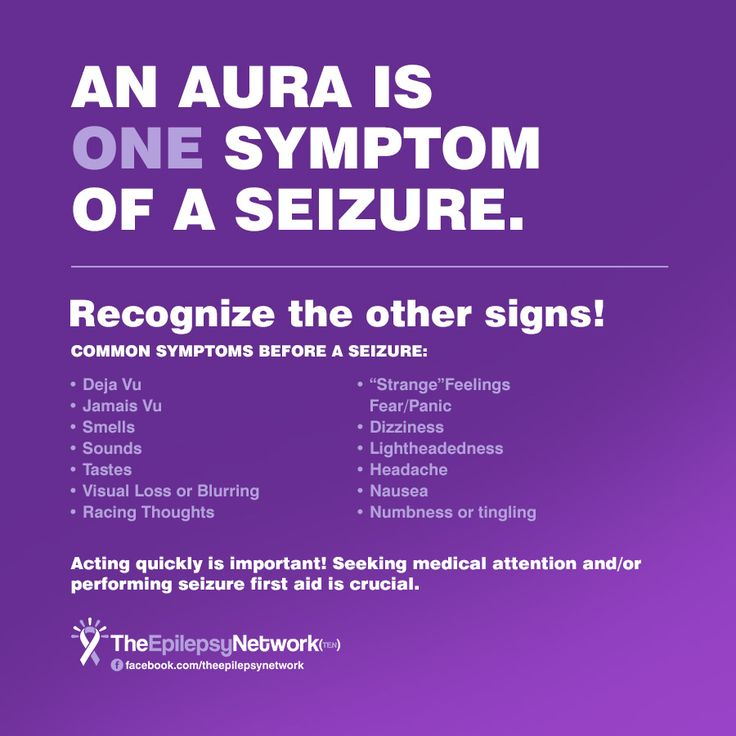An Aura is one symptom of a seizure. Recognize the other signs!