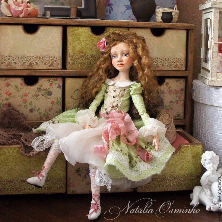 Купить Катенька - коллекционная кукла, кукла ручной работы, Будуарная кукла, авторская кукла