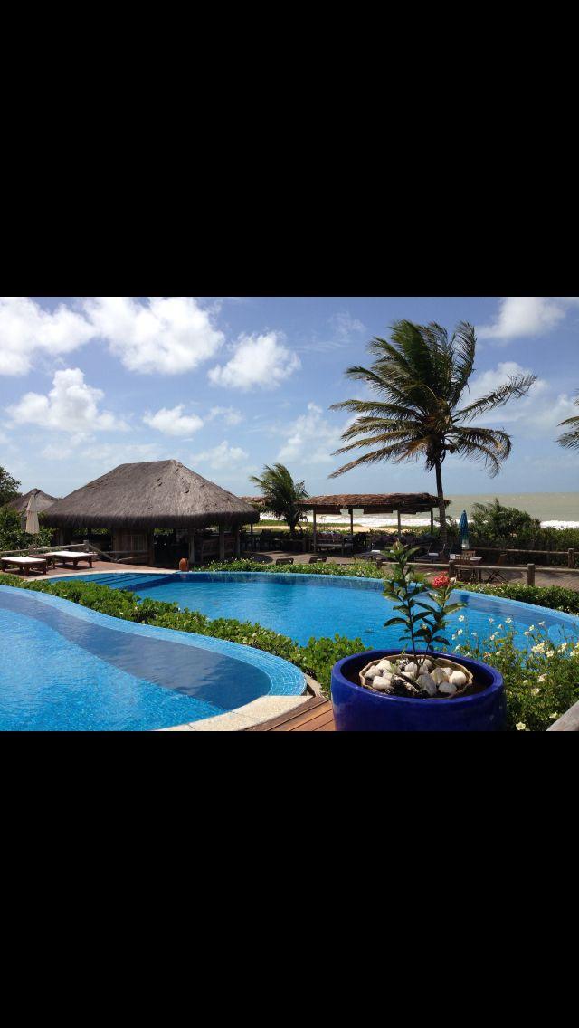 Linda vista da piscina do Hotel Estrela D'agua em Trancoso - Brasil.   http://imoveismlara.wordpress.com/  http://www.marcelolara.com.br