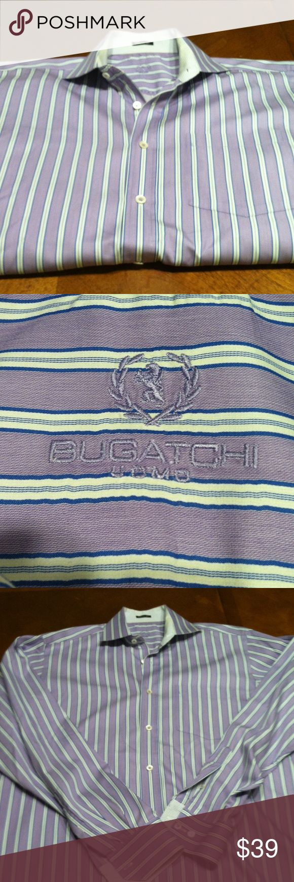 Men's Bugatchi Uomo Classic Fit Shirt-Like New Men's Bugatchi Uomo Classic Fit Shirt-Like New. 100% Cotton -CA 06064.  Great shirt to dress up any man. Bundle Discount or Make an Offer.  Pet free and Smoke free home. Bugatchi Shirts Dress Shirts