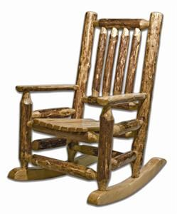Amish Made Glacier Country Log Furniture Child Rocker