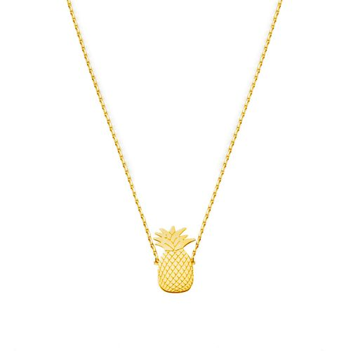 PINEAPPLE NECKLACE GOLD | Flor Amazona