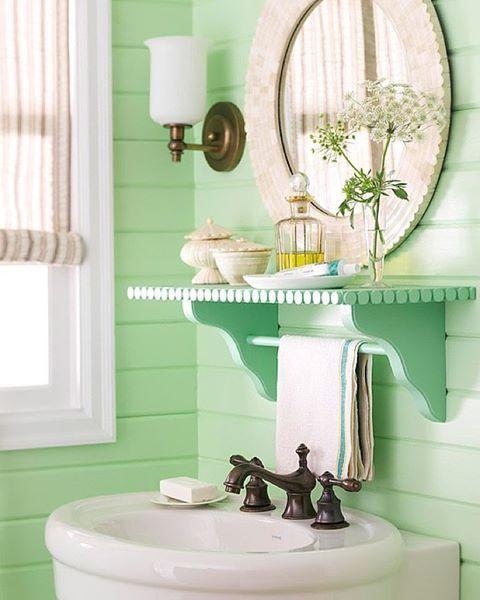 Casas de banho - Ideias para decorar em verde menta