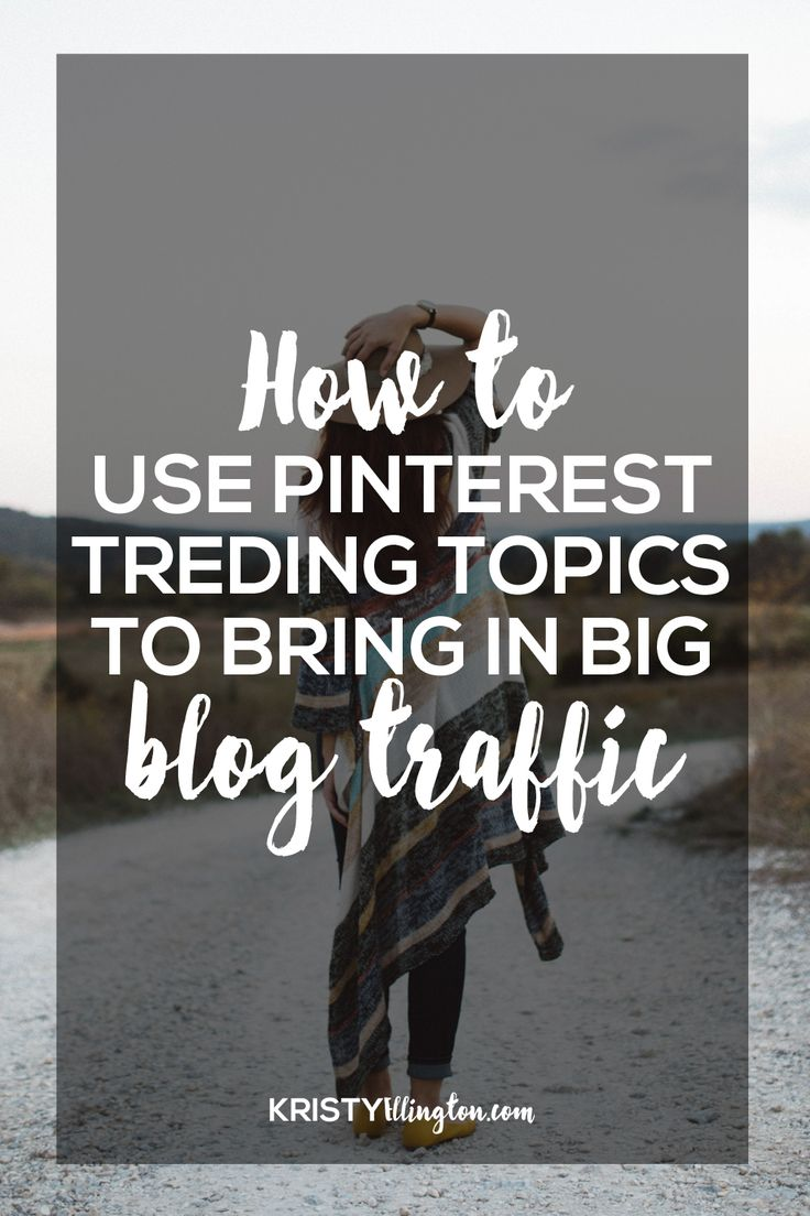 Get more traffic to your blog using Pinterest trends! Did you know there are 3 places you can find trending topics on Pinterest? Don't stop at the popular page! This is AWESOME for when you need idea inspiration or want to get more traffic to your blog.   There's a free Pinterest download, too — 7 ways to optimize your Pinterest account!