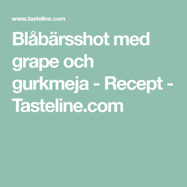 Blåbärsshot med grape och gurkmeja - Recept - Tasteline.com