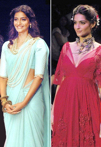 Sonam Kapoor showing off some beautiful neck pieces!