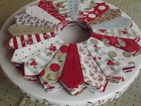 Winter Dresden Plate Quilt