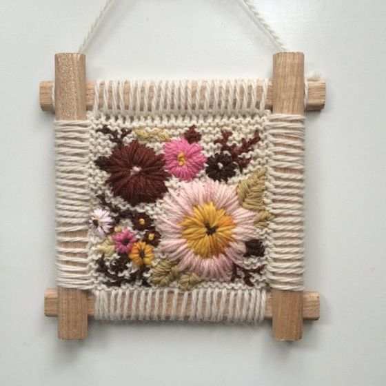 Image of Spring Wildflowers Embroidery