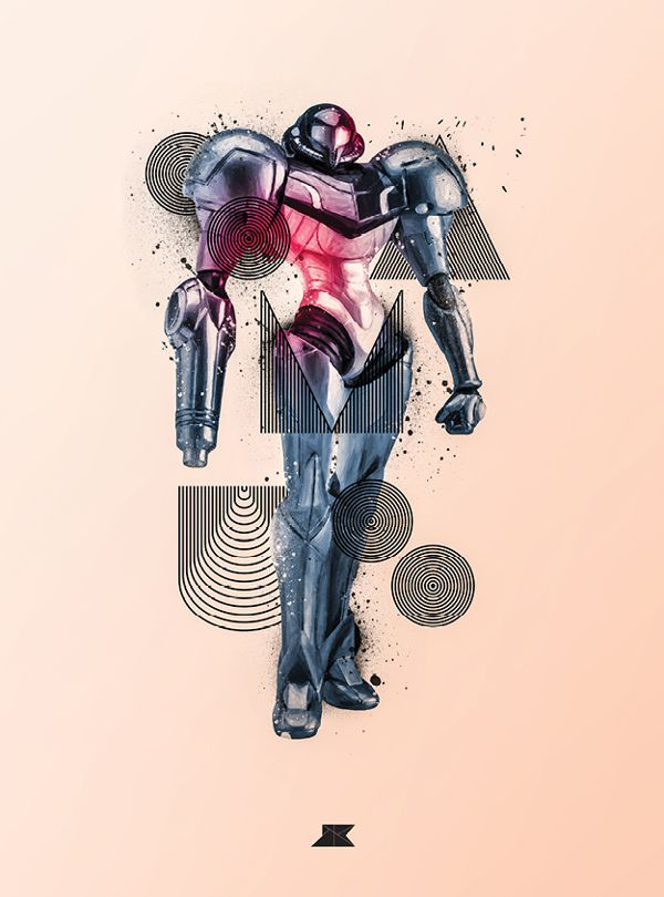 Stylized Posters Of Superheroes And Villains