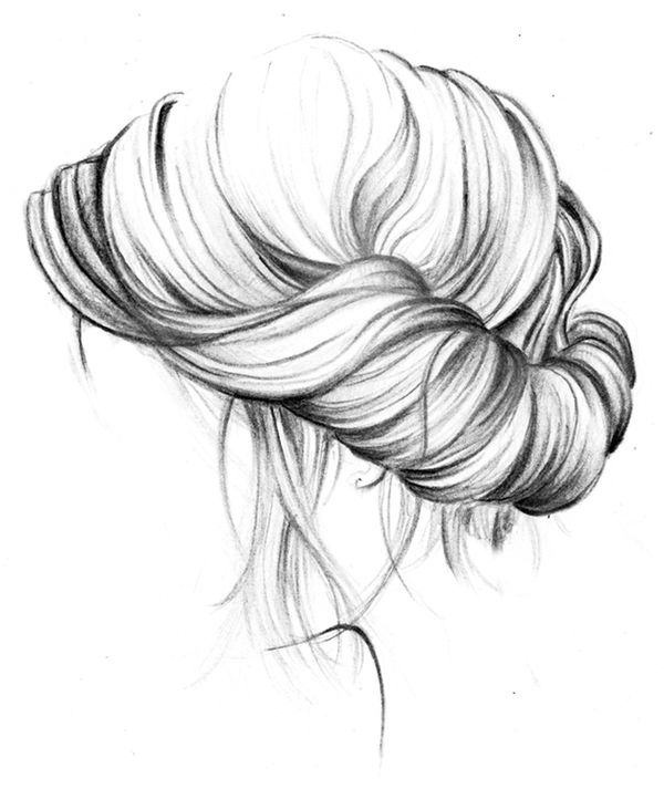 17 best hair sketches images on pinterest
