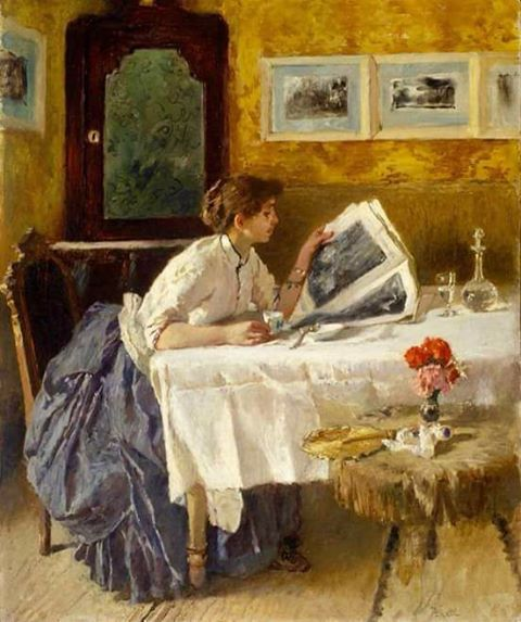 Francesco Netti La lectura, 1875 http://www.kuyadex.info/2017/04/50-Most-Influential-Famous-Paintings-All-Time.html