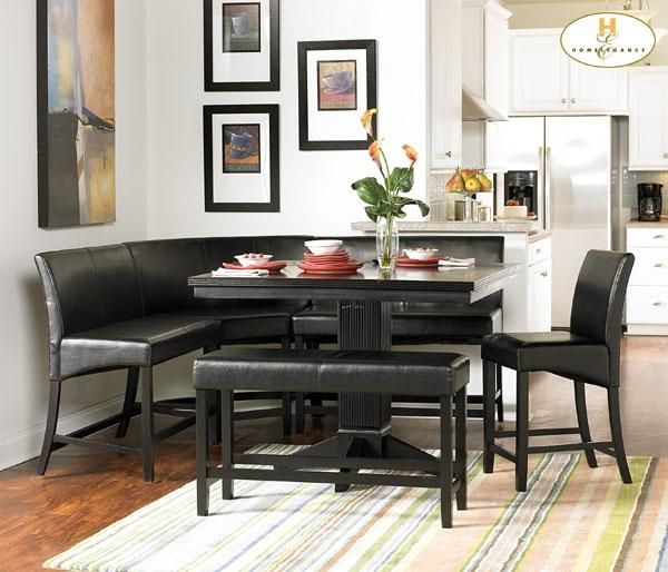 Corner Dining Set | Home / Homelegance Papario Collection Nook Pub Dining  Set (6 Piece