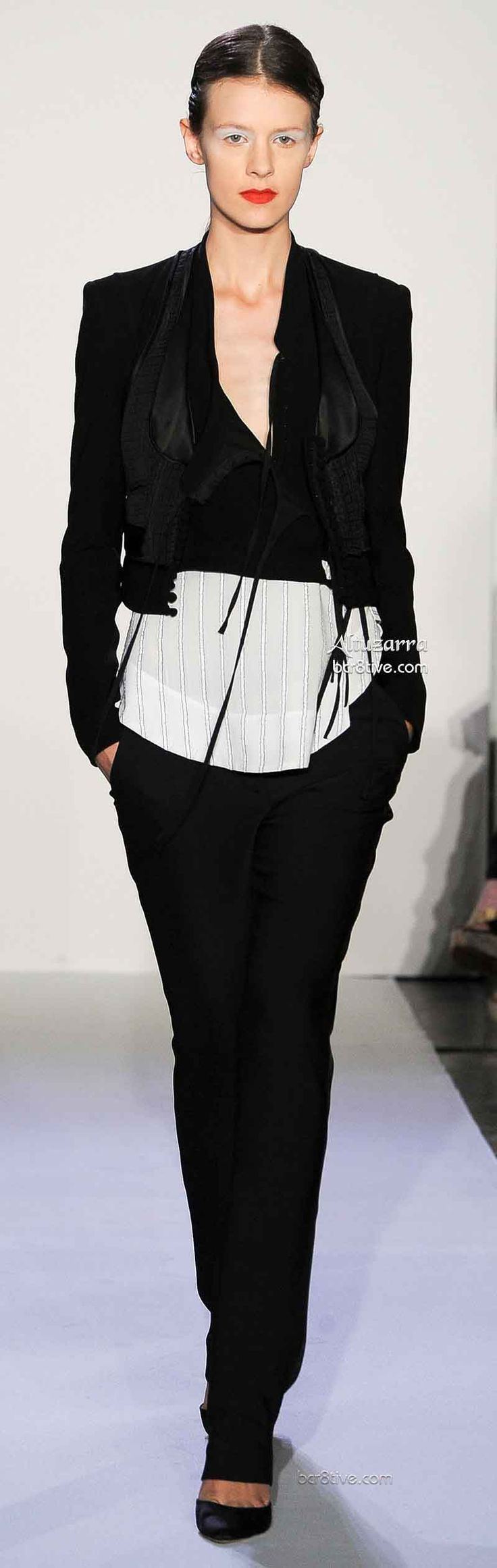 Altuzarra Short Black Jacket, Long Blouse, Skinny Dress Pants