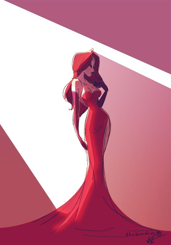 "Jessica Rabbit ""Don't laugh...she single-handedly brought back the Mermaid Dress""."