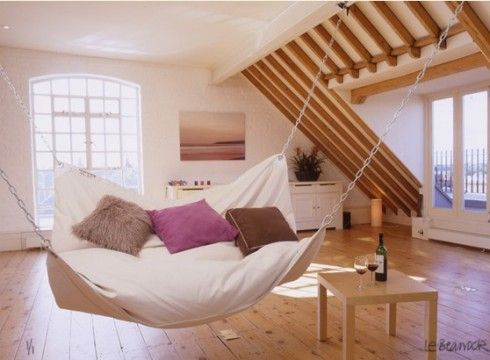 Love this IdeaIdeas, Hanging Beds, Dreams, Indoor Hammocks, Swings, Living Room, Hammocks Beds, Beans Bags, House