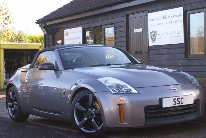 2009 Nissan 350Z GT for sale at Simon Shield Cars Ltd. Brembo brakes, Nismo alloy wheels with Michellin Super Sport Pilot tyres, Bose sound system. For more information go to http://www.simonshieldcars.co.uk/used/nissan/350z/35-v6-313-gt-2dr/ipswich/suffolk/17582862