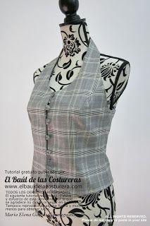 Patrón de costura gratuito talla 36 para chaleco de dama
