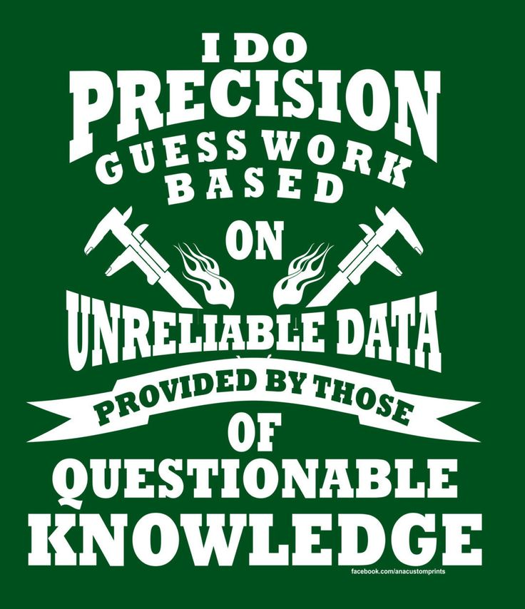 MACHINIST Precision Guess Work T-Shirt by AnACustomPrints on Etsy