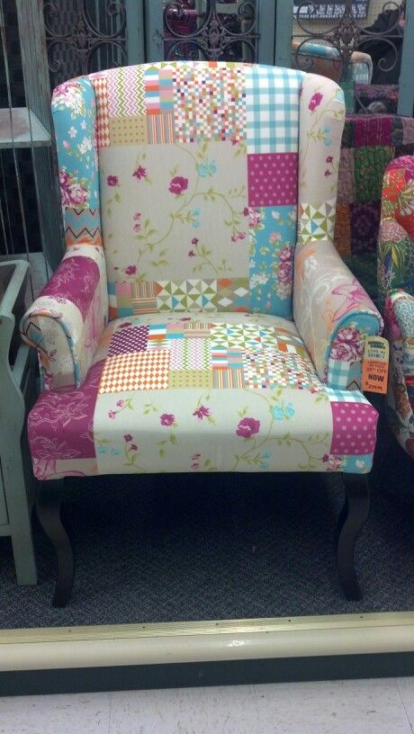 Patchwork Chair At Hobby Lobby So Cute Patchwork Chair