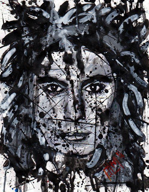 Dave Navarro, signed art print of original portrait painting by FdlM #PopArt