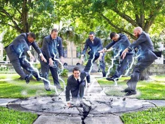 These guys broke through the standard for Groomsmen photos (19 Photos)