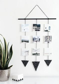 How cool is this photo wall hanging?