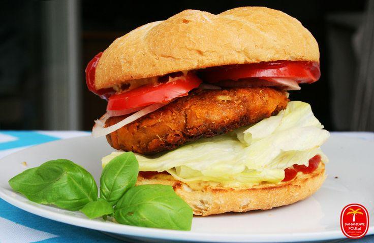 Burger marchewkowy z masłem orzechowym