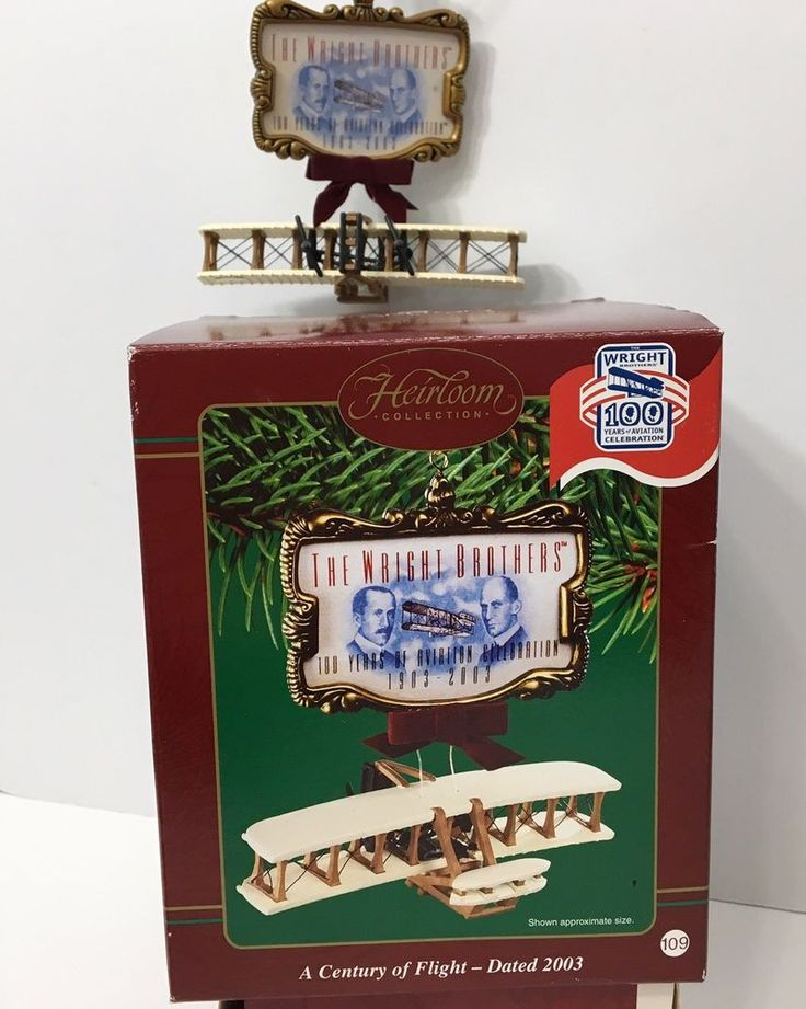 Wright Brothers Christmas Ornament Carlton Cards Heirloom A Century of Flight | Collectibles, Holiday & Seasonal, Christmas: Current (1991-Now) | eBay!