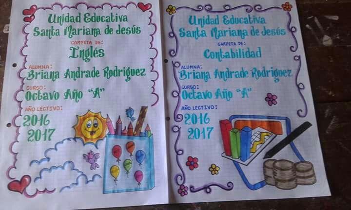 Carátulas cuadernos web