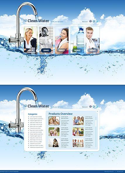 Water Filter website template