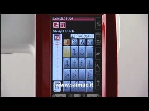 Saimac - Janome Memory Craft 9900 - YouTube