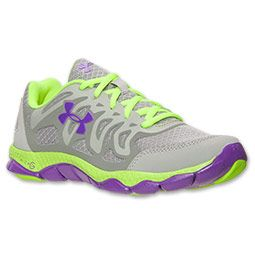 Women's Under Armour Engage Running Shoes | FinishLine.com | Steel/Graphite/Pride