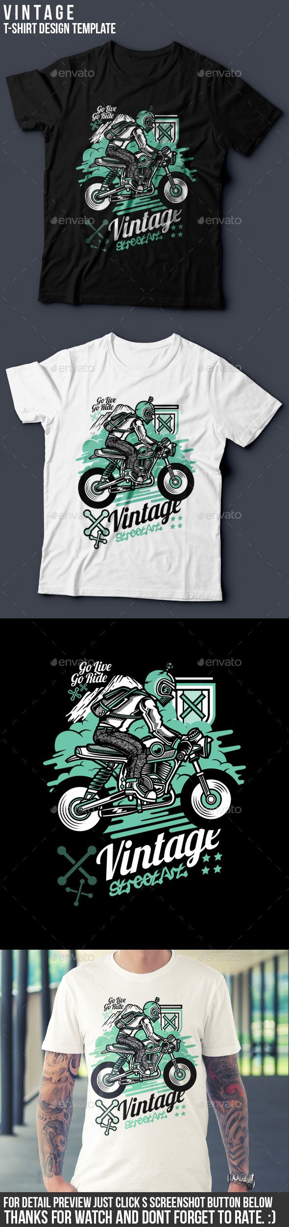 Car body sticker design eps - Vintage T Shirt Design