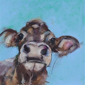 "Limited Edition Sue Moffitt Cow Print ""Brook"""