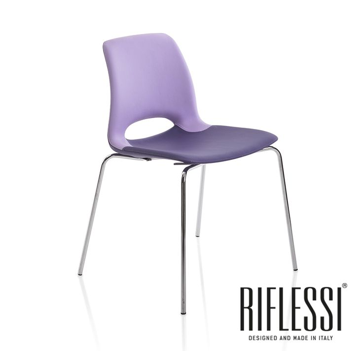 Simple and comfy beauty. Katiachair by Riflessi.