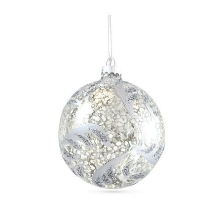 Gisela Graham, Set of 4 Antique Silver Leaves Baubles, Buy Online at LuxDeco