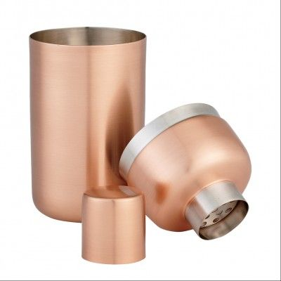 The sleek look of this copper shaker makes it the ideal choice for a modern beach house.
