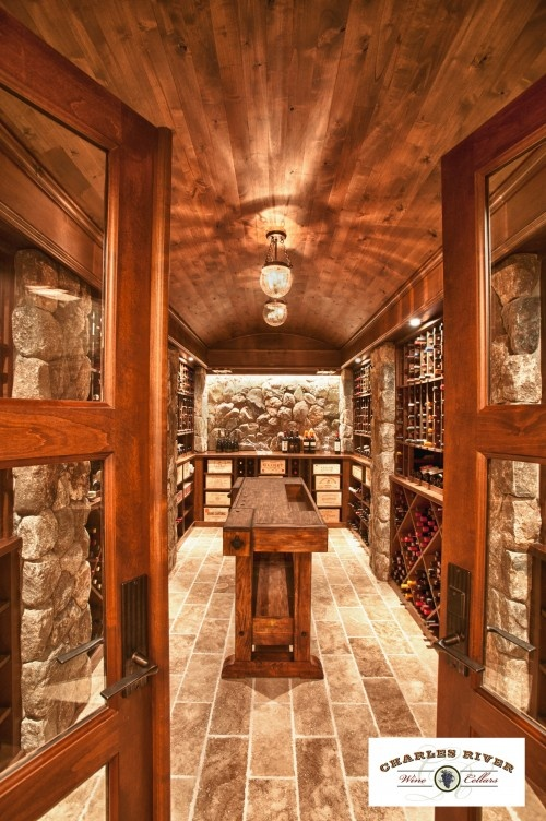 Perfect cellar and tasting table.
