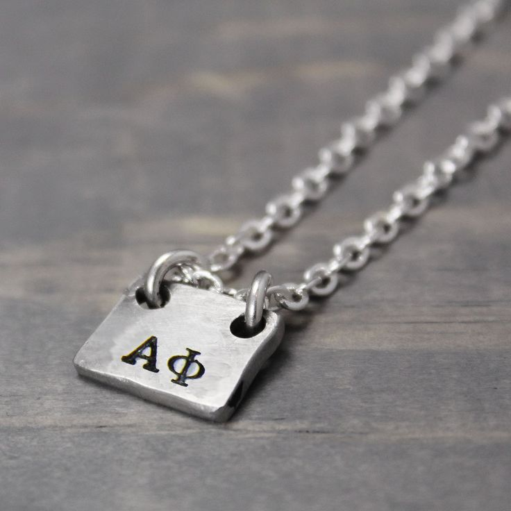 Alpha Phi Rectangle Necklace