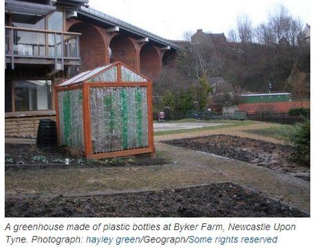Instructions on building a greenhouse out of 2-liter plastic pop bottles!  treehugger.com