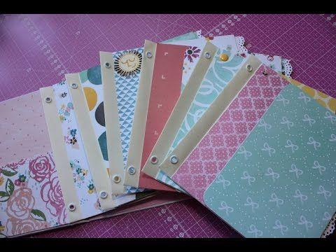 Mini álbum de sobres con cubierta de cartón III: Interior