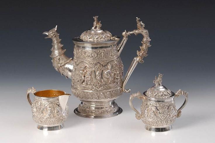 Burma, 1818 g. Gestempelt: Sterling Silver