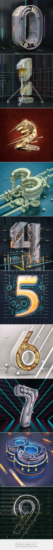 Numbers #1 on Behance - https://www.behance.net/gallery/38425573/Numbers-1