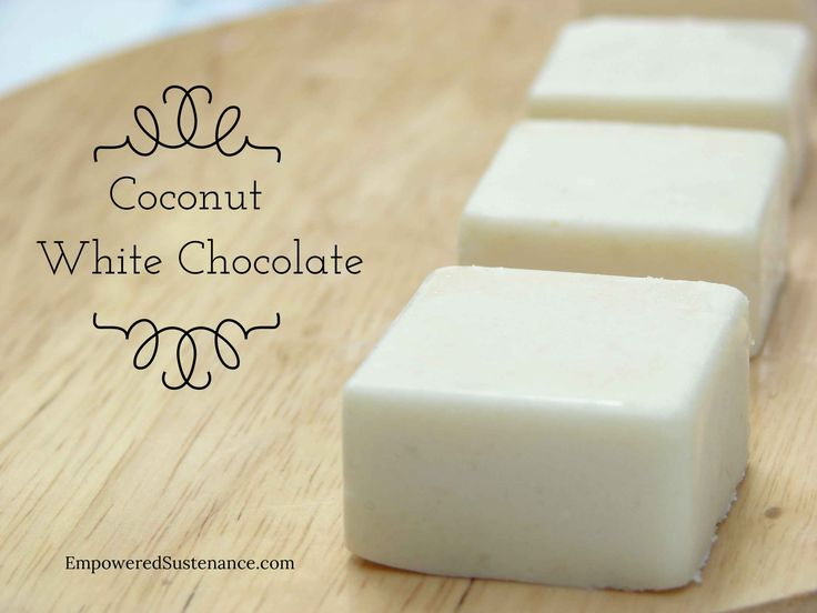 HOMEMADE COCONUT WHITE CHOCOLATE FUDGE with coconut flour, coconut butter and coconut oil.