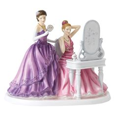 Royal Doulton British Flower Ladies Peony And Violet